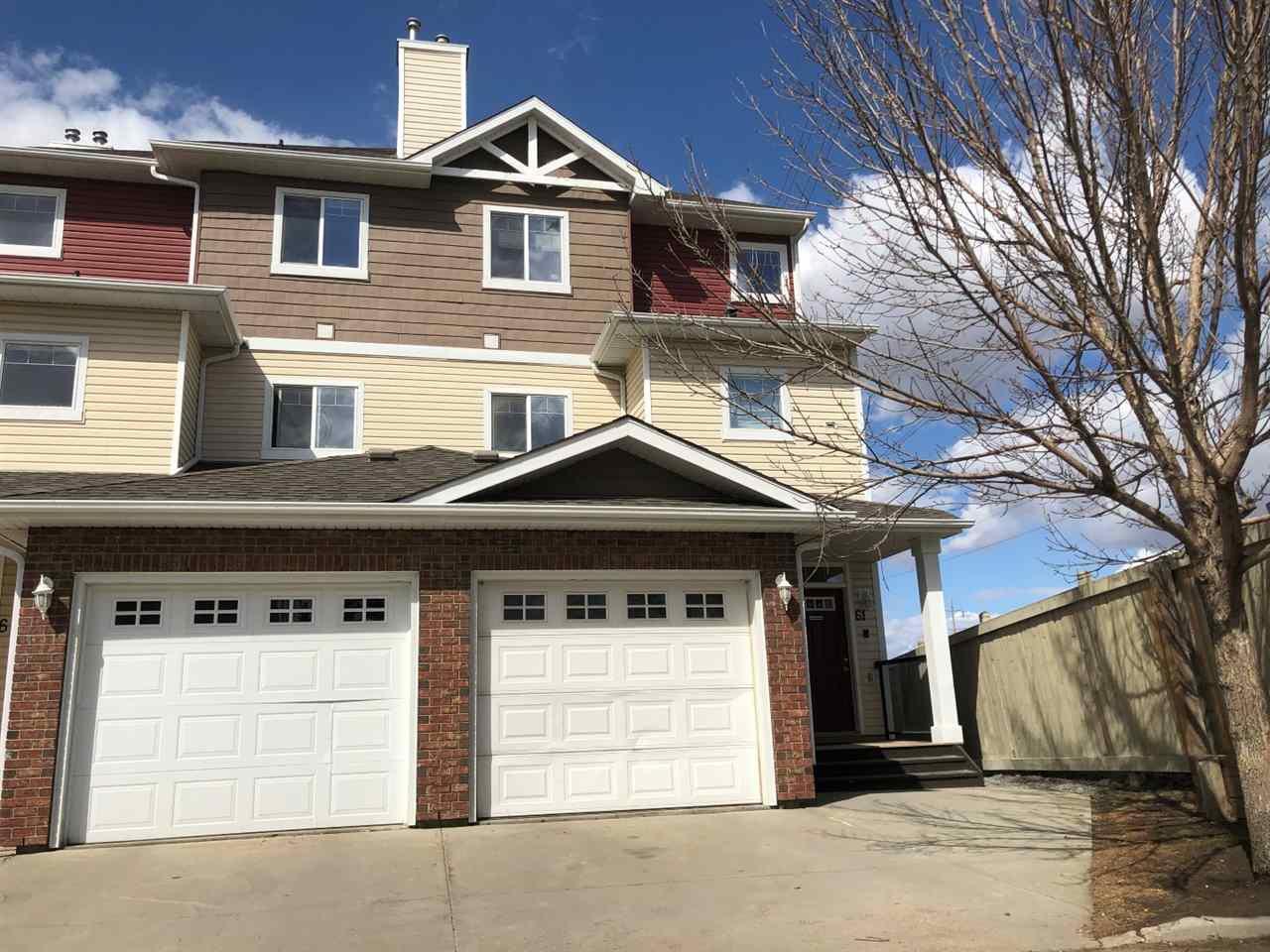 Main Photo: 62 3010 33 Avenue in Edmonton: Zone 30 Townhouse for sale : MLS®# E4193215