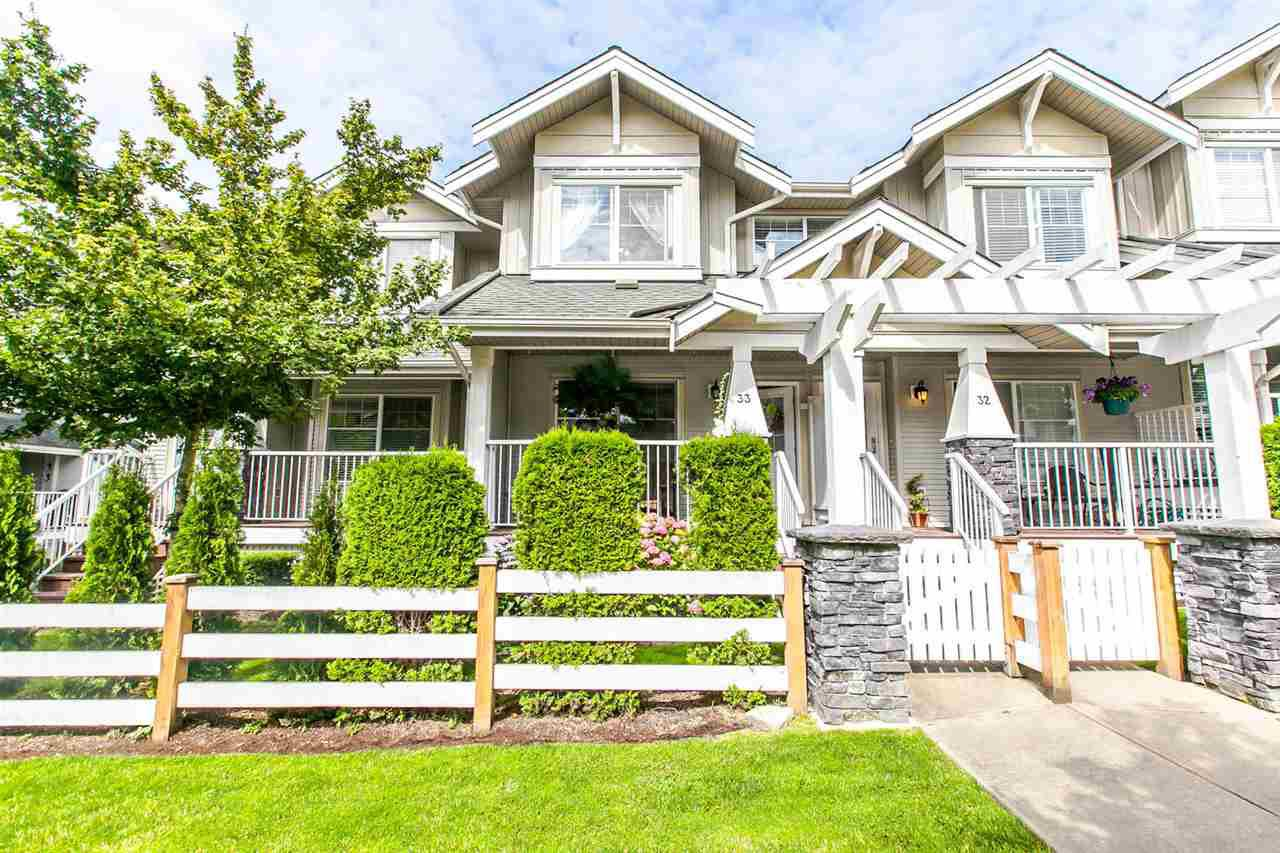 "Main Photo: 33 6568 193B Street in Surrey: Clayton Townhouse for sale in ""BELMONT"" (Cloverdale)  : MLS®# R2084355"