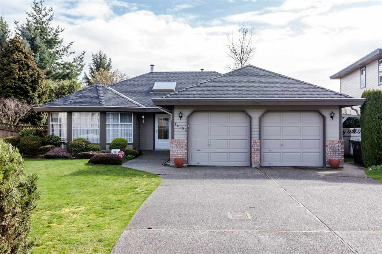 Main Photo: 14926 22 AVENUE in : Sunnyside Park Surrey House for sale : MLS®# R2047046