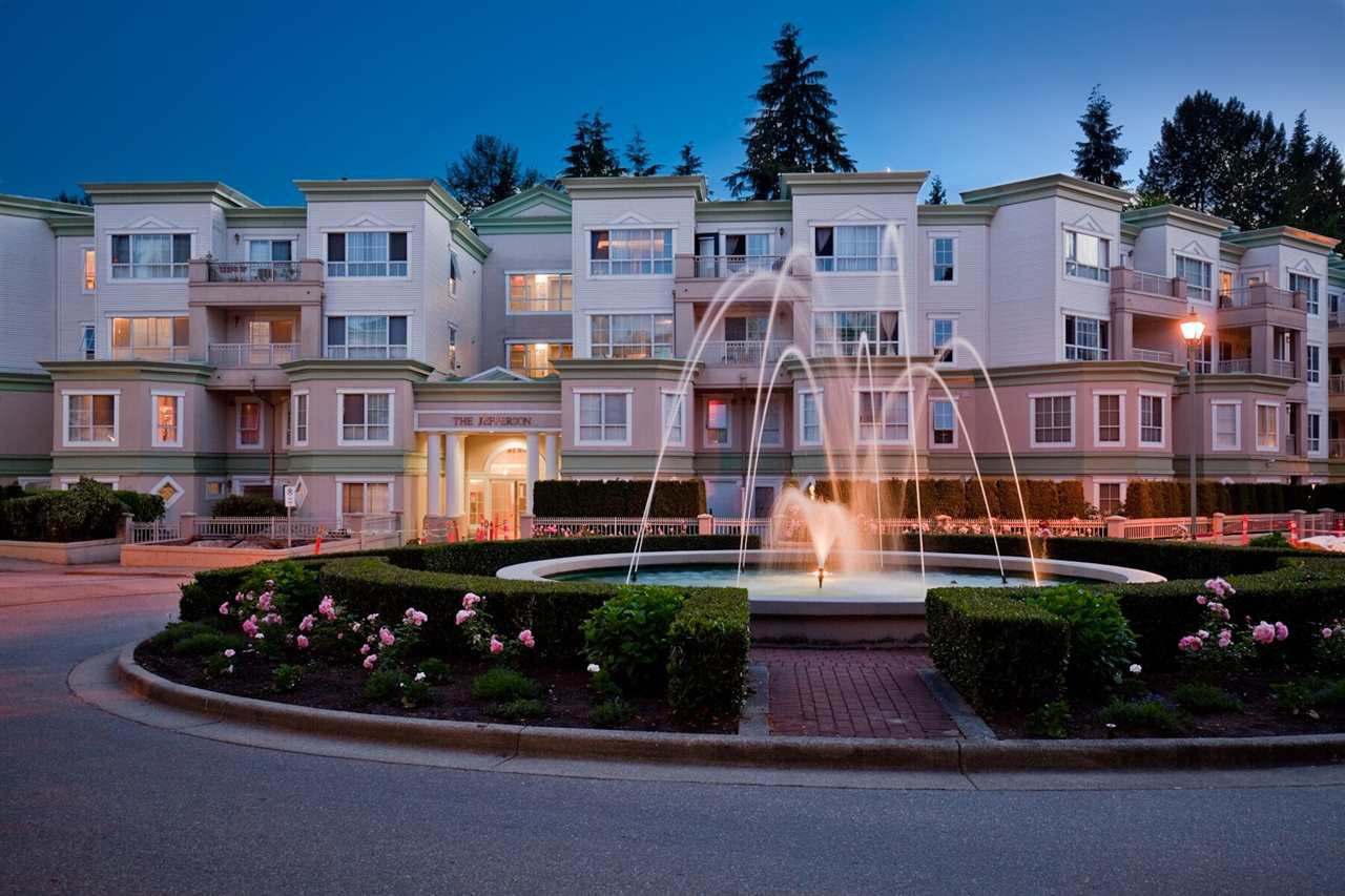 """Main Photo: 216 2960 PRINCESS Crescent in Coquitlam: Canyon Springs Condo for sale in """"THE JEFFERSON"""" : MLS®# R2366940"""