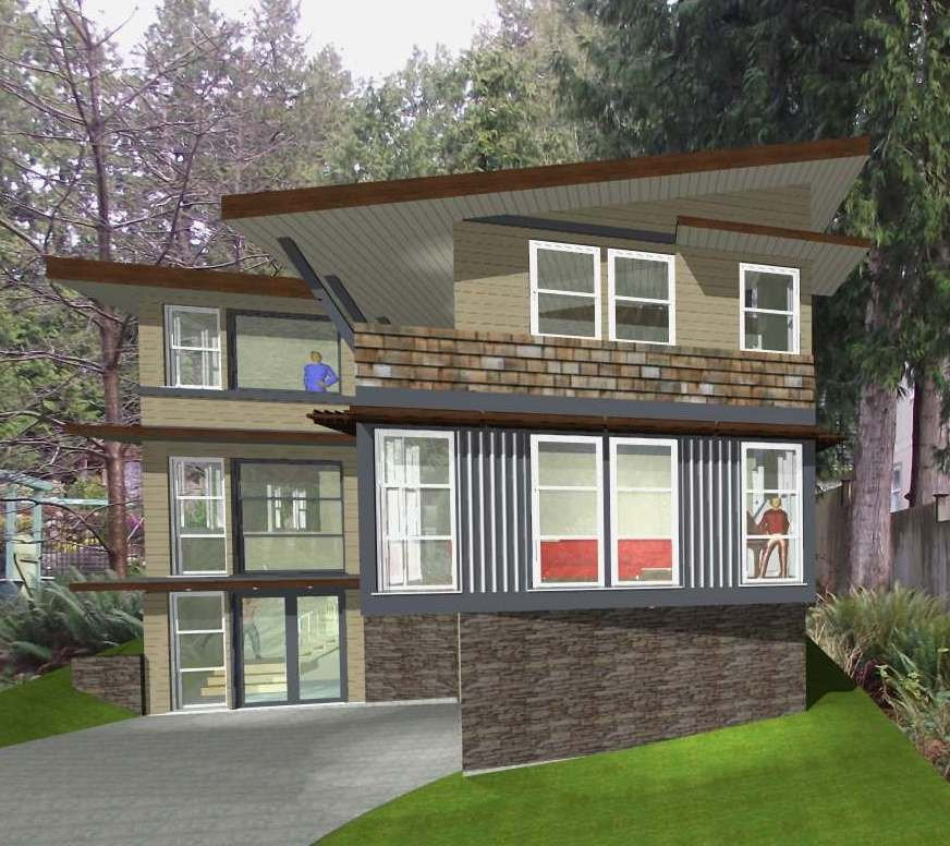 Architect rendering of potential home on lot