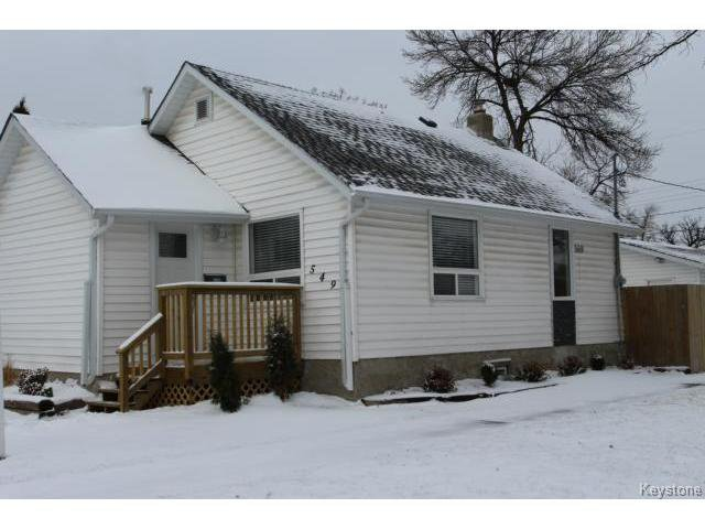 Main Photo: 549 St Catherine Street in WINNIPEG: St Boniface Residential for sale (South East Winnipeg)  : MLS®# 1424430