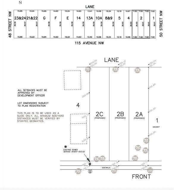 Main Photo: 4841 115 Avenue in Edmonton: Zone 23 Vacant Lot for sale : MLS®# E4218127