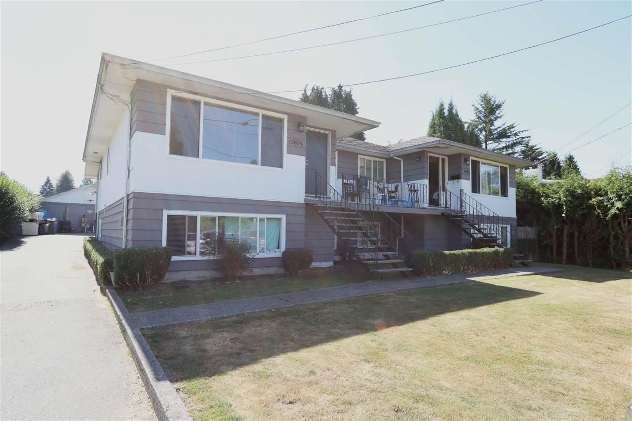 "Main Photo: 13802 - 13804 GROSVENOR Road in Surrey: Bolivar Heights House Duplex for sale in ""BOLIVAR HEIGHTS"" (North Surrey)  : MLS®# R2107128"