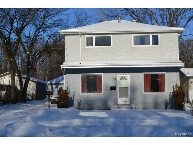 Main Photo: 233 Worthington Avenue in WINNIPEG: St Vital Residential for sale (South East Winnipeg)  : MLS®# 1500728