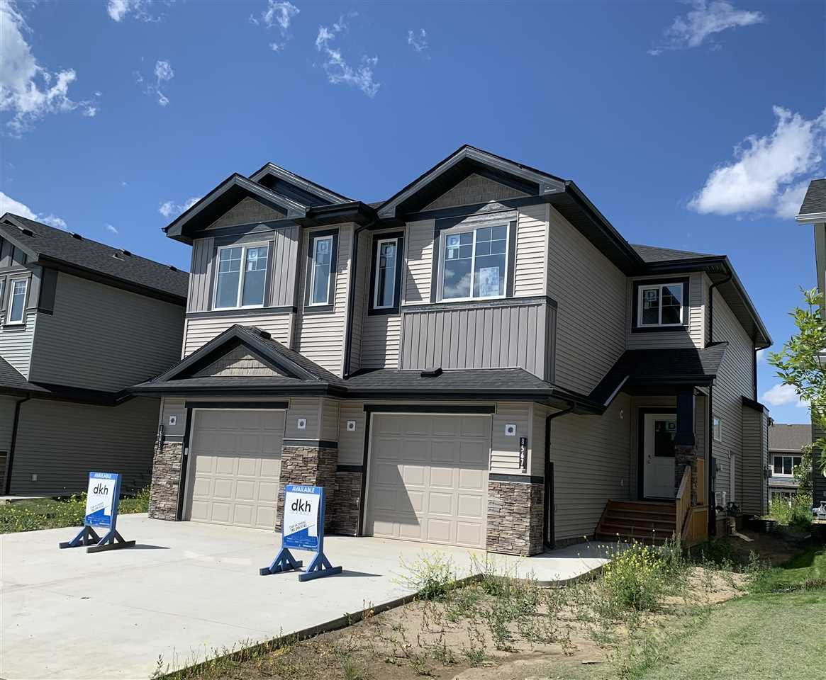 Main Photo: 8567 CUSHING Place in Edmonton: Zone 55 House Half Duplex for sale : MLS®# E4169942