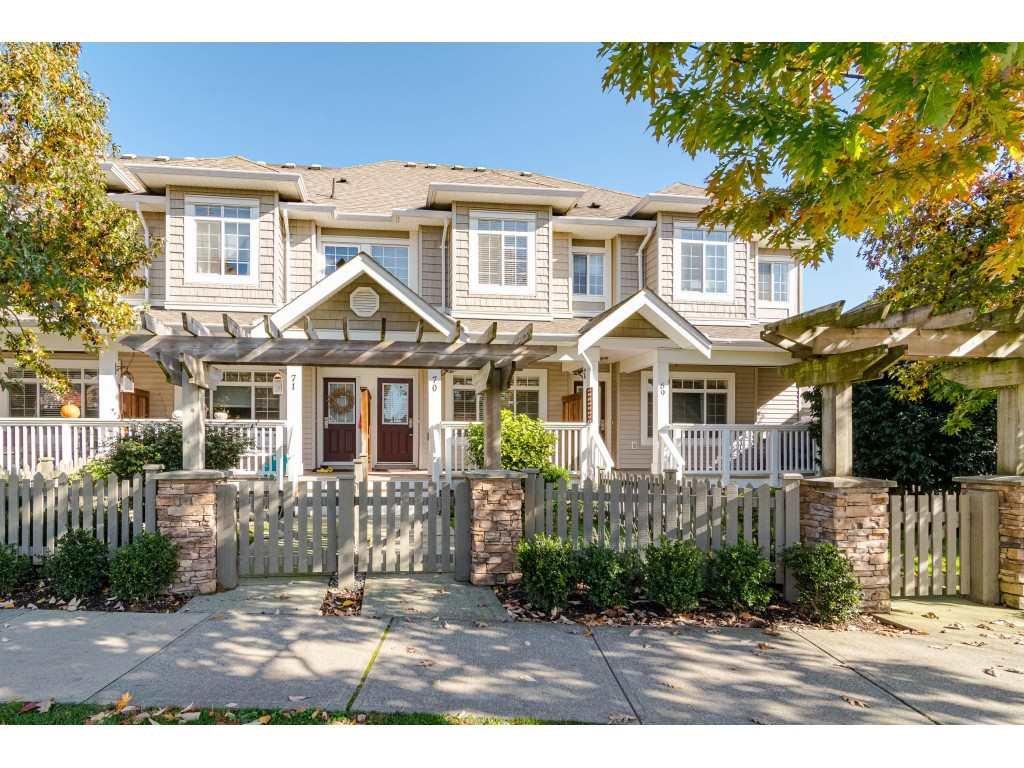 "Main Photo: 70 6852 193 Street in Surrey: Clayton Townhouse for sale in ""INDIGO"" (Cloverdale)  : MLS®# R2412408"