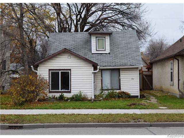 Main Photo: 351 Ferry Road in WINNIPEG: St James Residential for sale (West Winnipeg)  : MLS®# 1529050