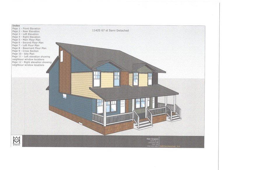 Main Photo: 11425 67 Street in Edmonton: Zone 09 House Half Duplex for sale : MLS®# E4136624