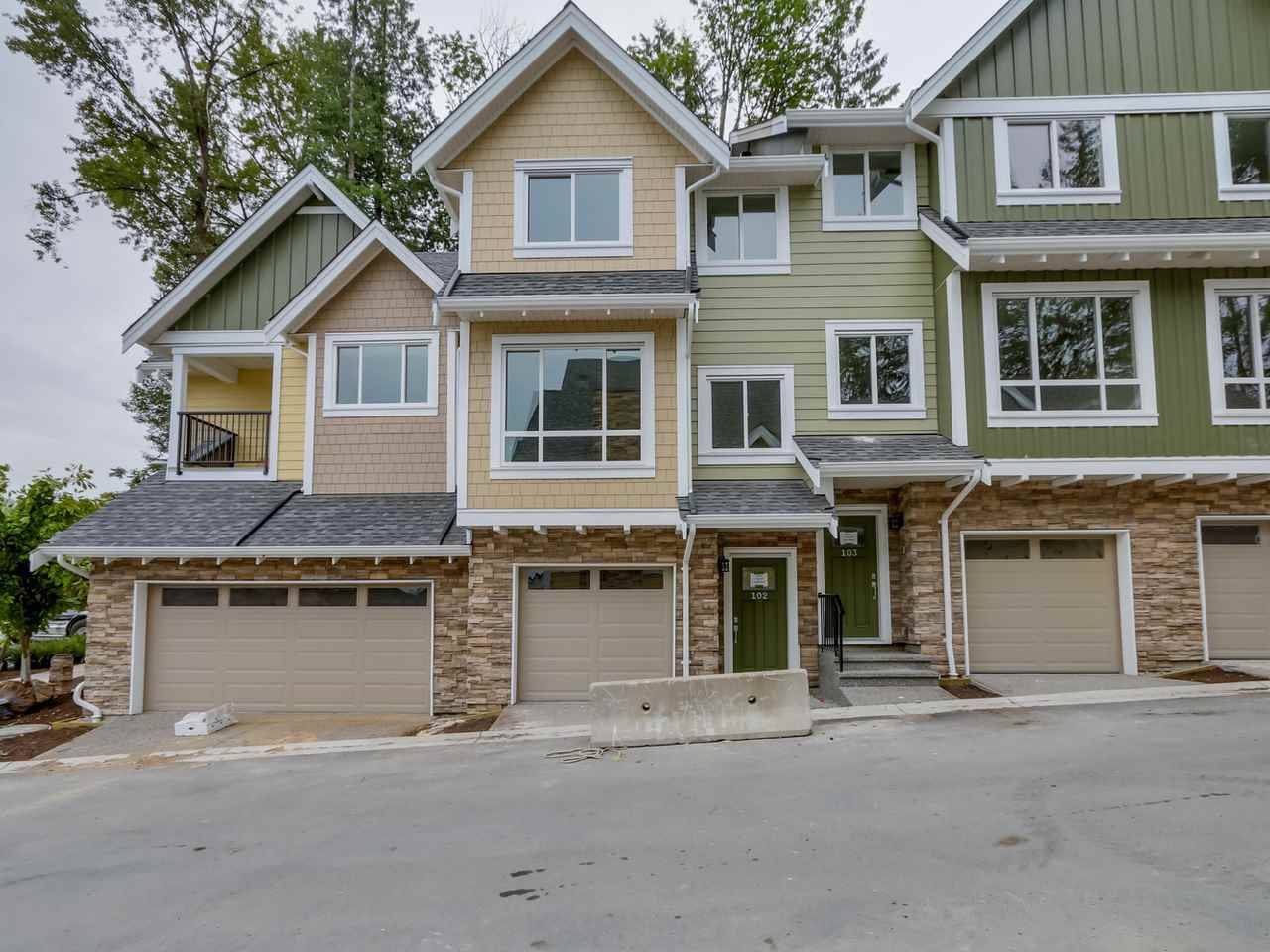 Main Photo: 103 1405 DAYTON Street in : Burke Mountain Townhouse for sale (Coquitlam)  : MLS®# R2123284