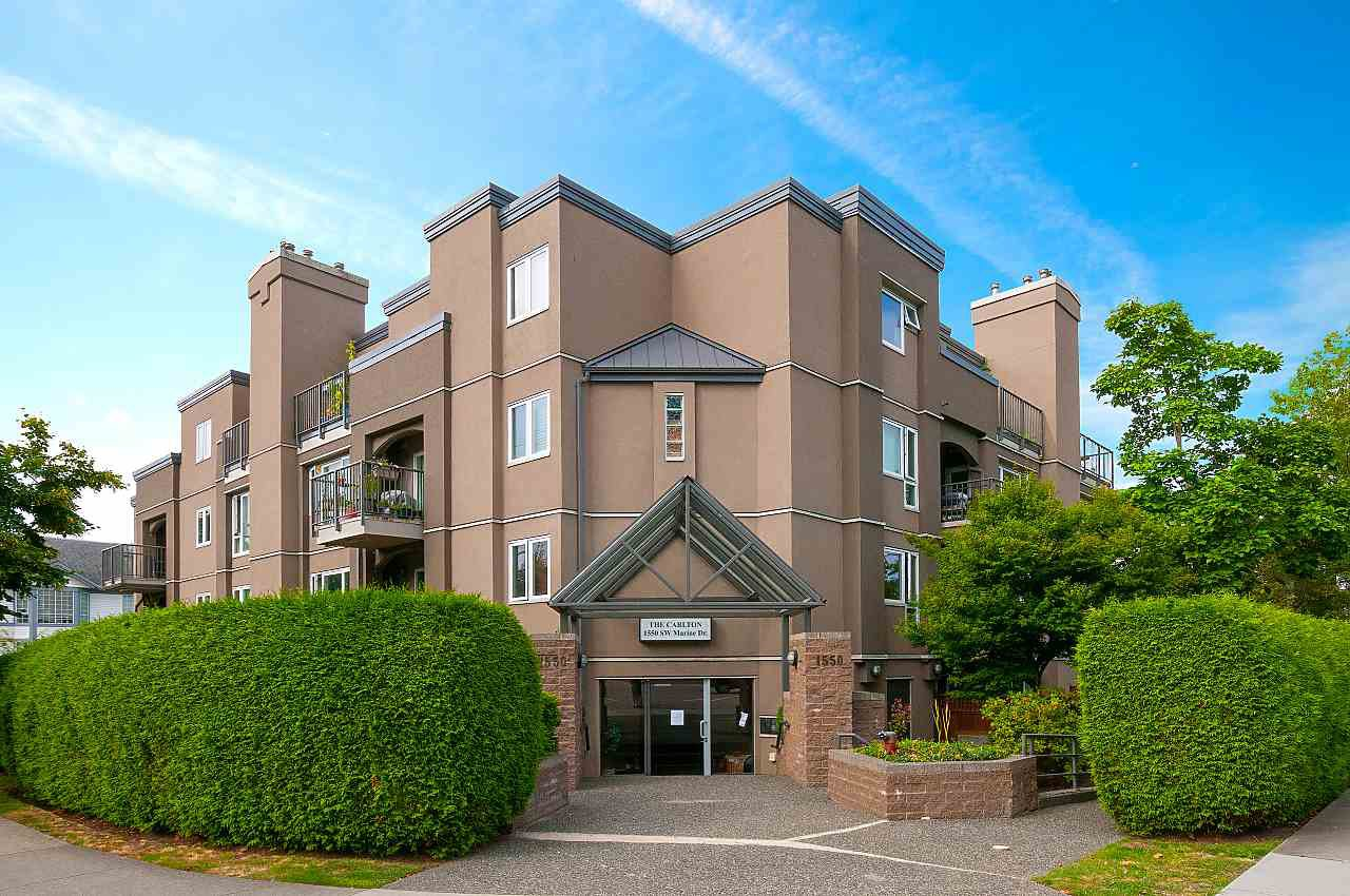 "Main Photo: 102 1550 SW MARINE Drive in Vancouver: Marpole Condo for sale in ""THE CARLTON"" (Vancouver West)  : MLS®# R2481390"