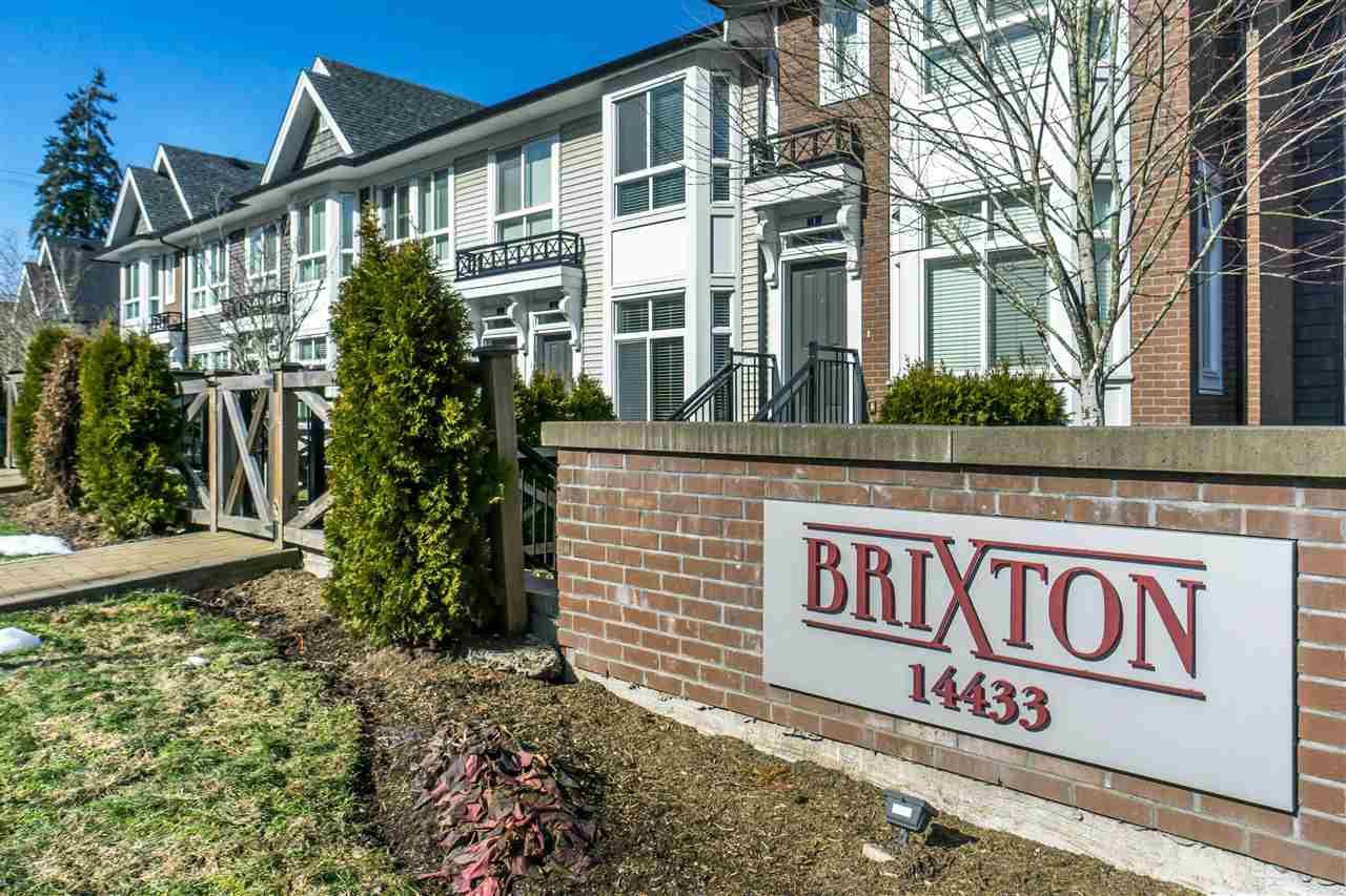 "Main Photo: 61 14433 60 Avenue in Surrey: Sullivan Station Townhouse for sale in ""Brixton"" : MLS®# R2344524"