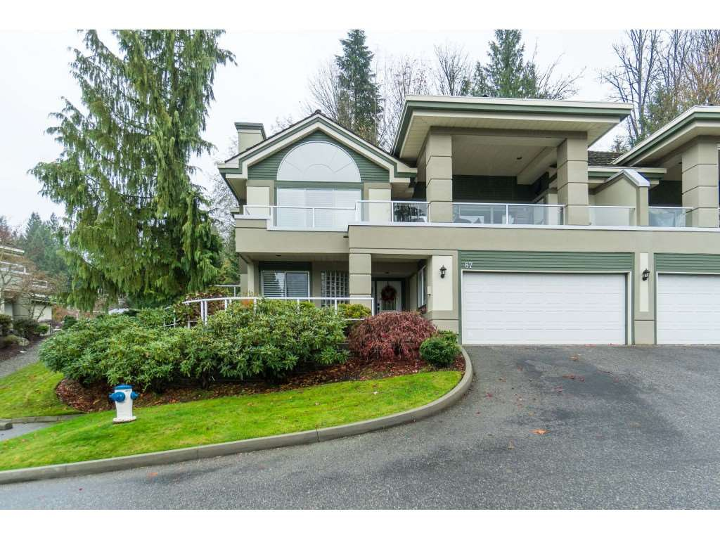 "Main Photo: 87 4001 OLD CLAYBURN Road in Abbotsford: Abbotsford East Townhouse for sale in ""Cedar Springs"" : MLS®# R2419759"