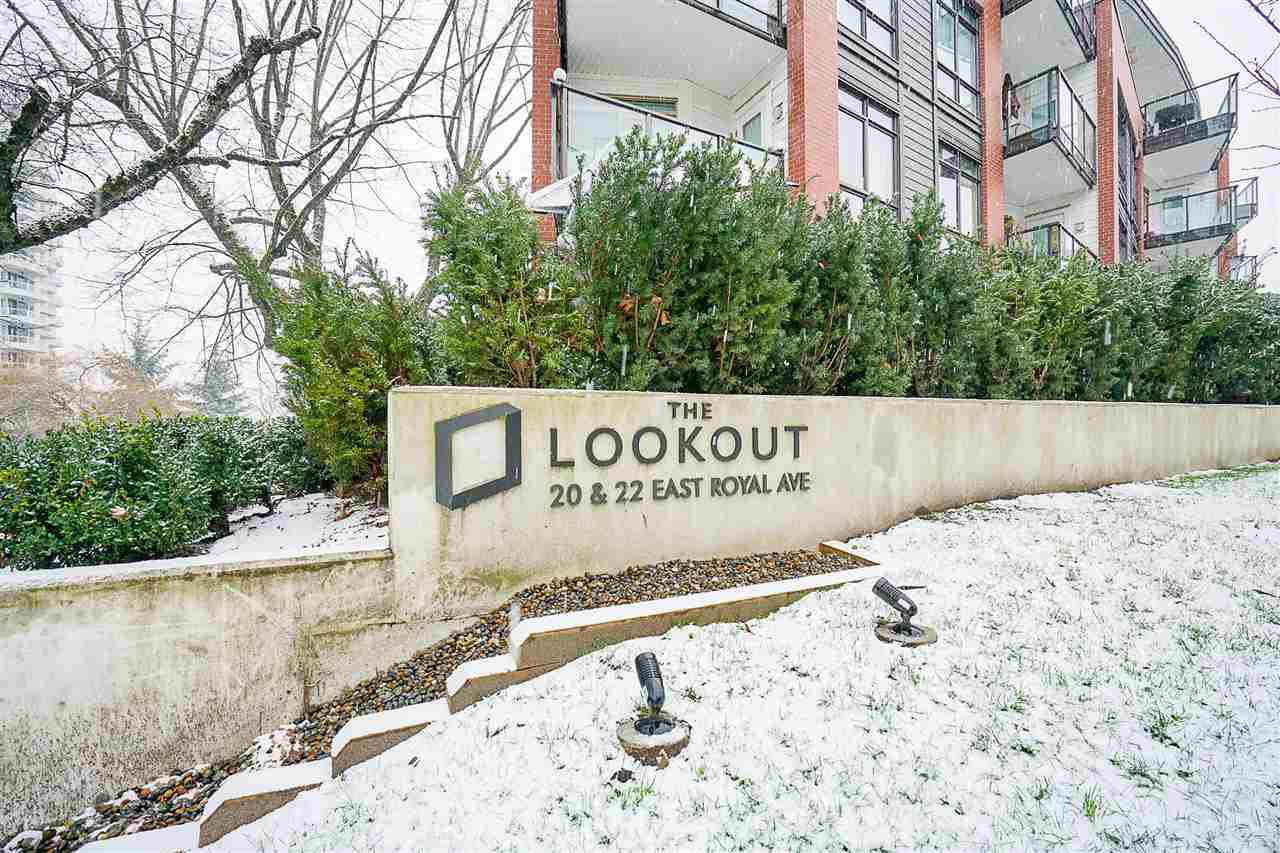 "Main Photo: 109 20 E ROYAL Avenue in New Westminster: Fraserview NW Condo for sale in ""The Lookout"" : MLS®# R2229386"