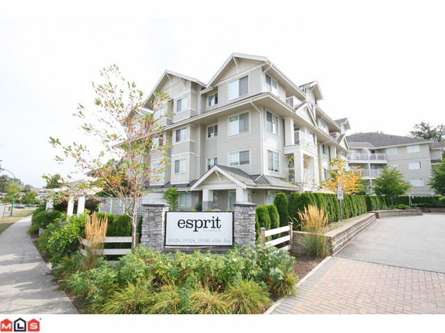"Main Photo: 301 19320 65TH Avenue in Surrey: Clayton Condo for sale in ""Esprit"" (Cloverdale)  : MLS®# F1123058"