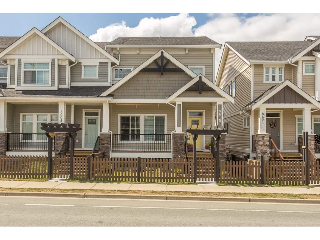 "Main Photo: 8615 CEDAR Street in Mission: Mission BC Condo for sale in ""Cedar Valley Row Homes"" : MLS®# R2199726"