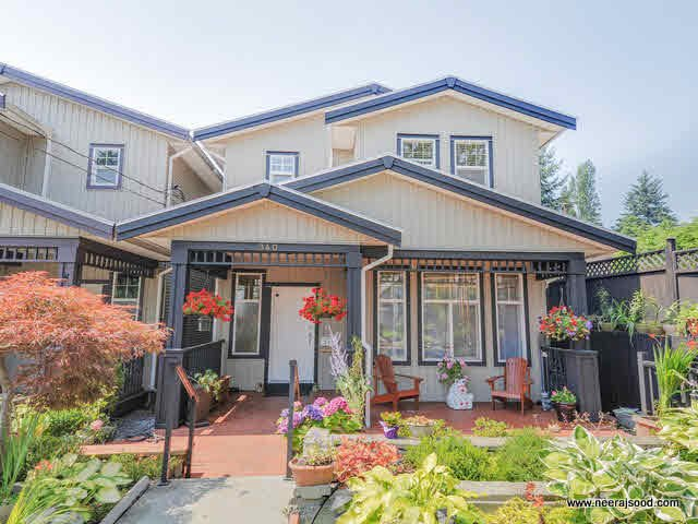 Main Photo: 340 NELSON Street in Coquitlam: Maillardville House 1/2 Duplex for sale : MLS®# V1132962