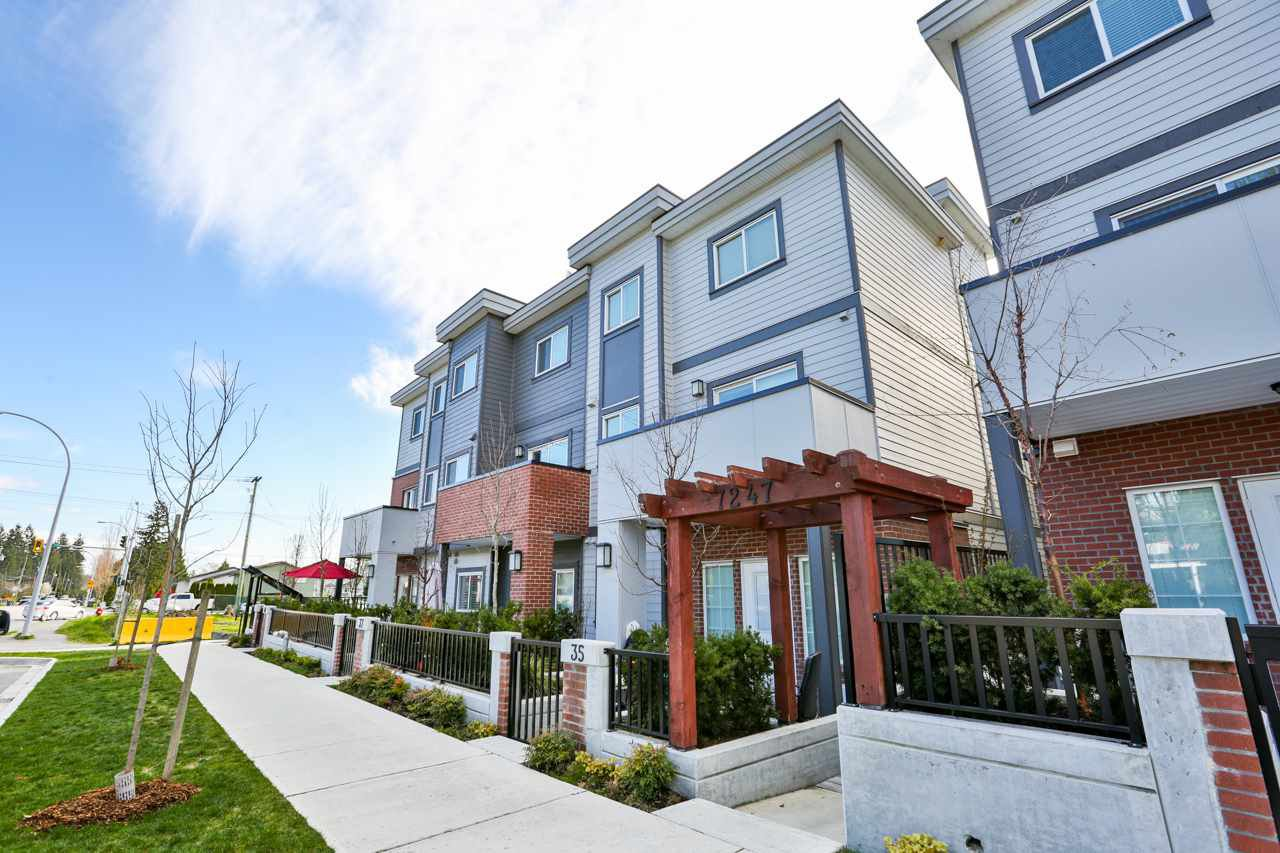 "Main Photo: 39 7247 140 Street in Surrey: East Newton Townhouse for sale in ""Greenwood Townhomes"" : MLS®# R2256026"