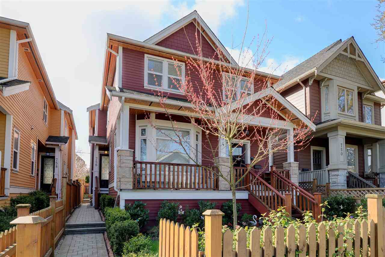 Main Photo: 756 E.12th Ave, in Vancouver: Mount Pleasant VE House 1/2 Duplex for sale (Vancouver East)  : MLS®# R2252612