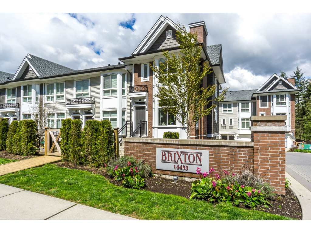 "Main Photo: 1 14433 60 Avenue in Surrey: Sullivan Station Townhouse for sale in ""Brixton"" : MLS®# R2158472"