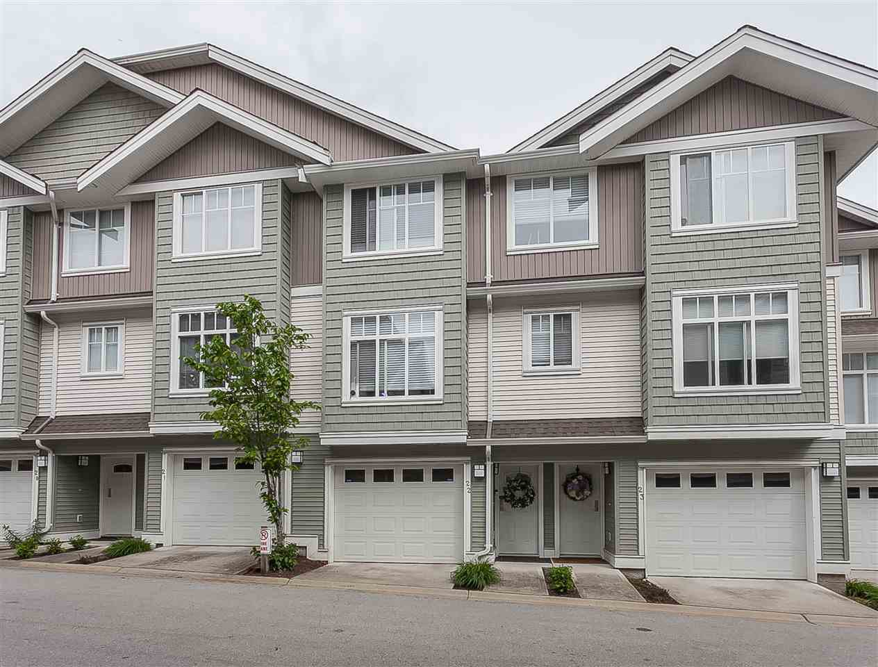 "Main Photo: 22 19480 66 Avenue in Surrey: Clayton Townhouse for sale in ""Two Blue II"" (Cloverdale)  : MLS®# R2370948"