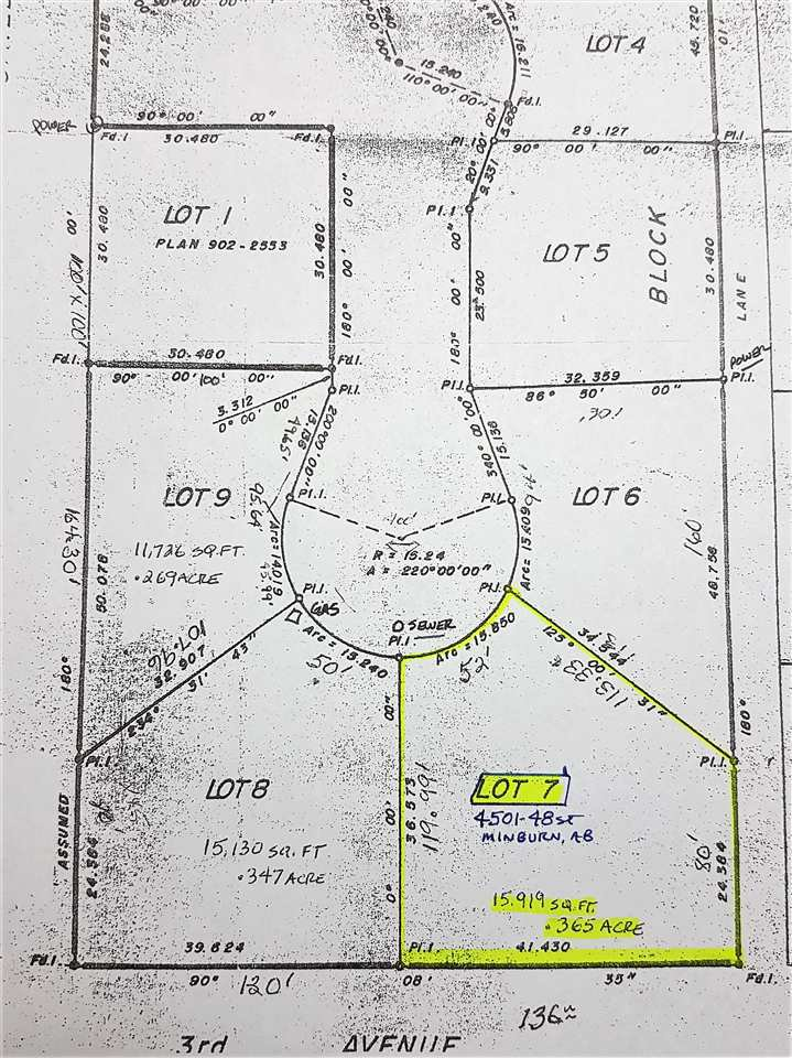 Main Photo: 4501 48 Street: Minburn Vacant Lot for sale : MLS®# E4150010
