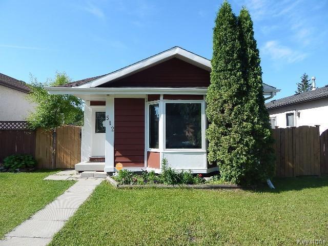 Main Photo: 512 Springfield Road in WINNIPEG: North Kildonan Residential for sale (North East Winnipeg)  : MLS®# 1509585