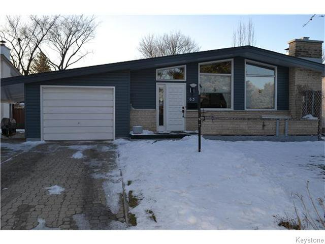 Main Photo: 63 Tyrone Bay in WINNIPEG: St Vital Residential for sale (South East Winnipeg)  : MLS®# 1531111