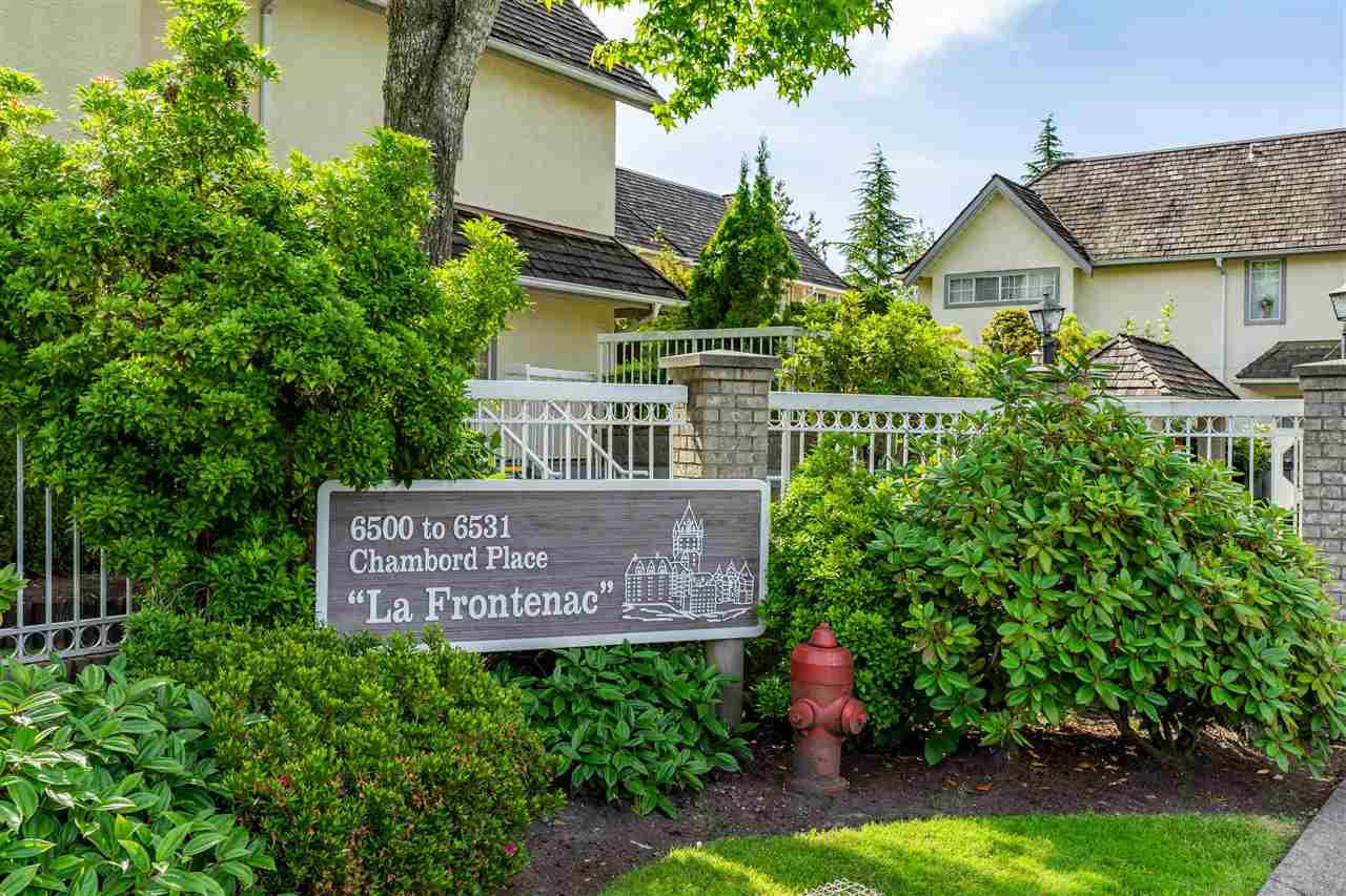 "Main Photo: 47 6521 CHAMBORD Place in Vancouver: Fraserview VE Townhouse for sale in ""La Frontenac"" (Vancouver East)  : MLS®# R2469378"