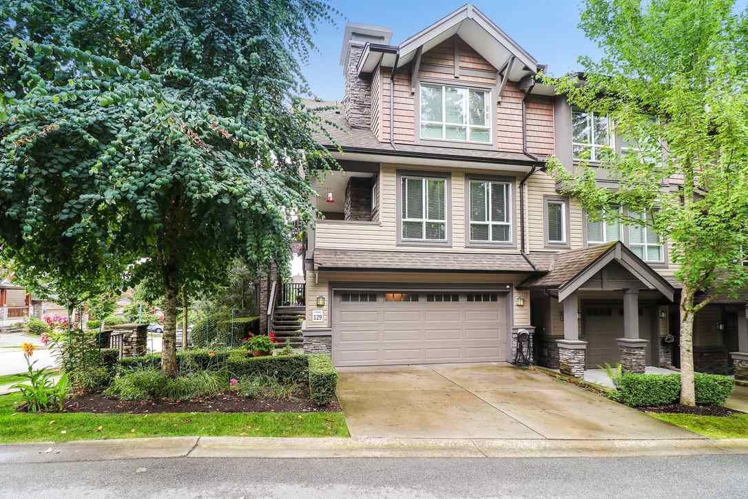 "Main Photo: #129 1460 SOUTHVIEW Street in Coquitlam: Burke Mountain Townhouse for sale in ""Cedar Creek"" : MLS®# R2489857"