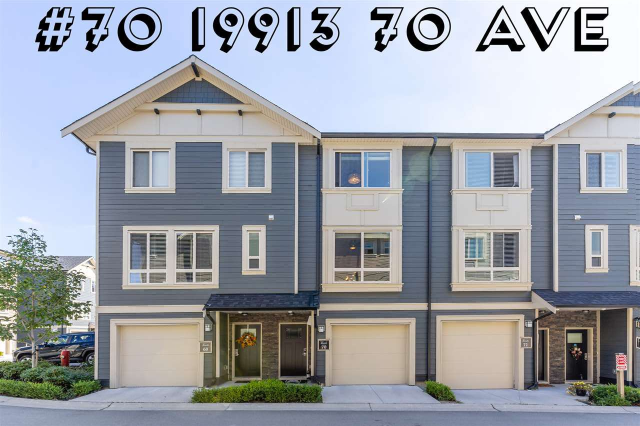 "Main Photo: #70 19913 70 Avenue in Langley: Willoughby Heights Townhouse for sale in ""THE BROOKS"" : MLS®# R2518240"