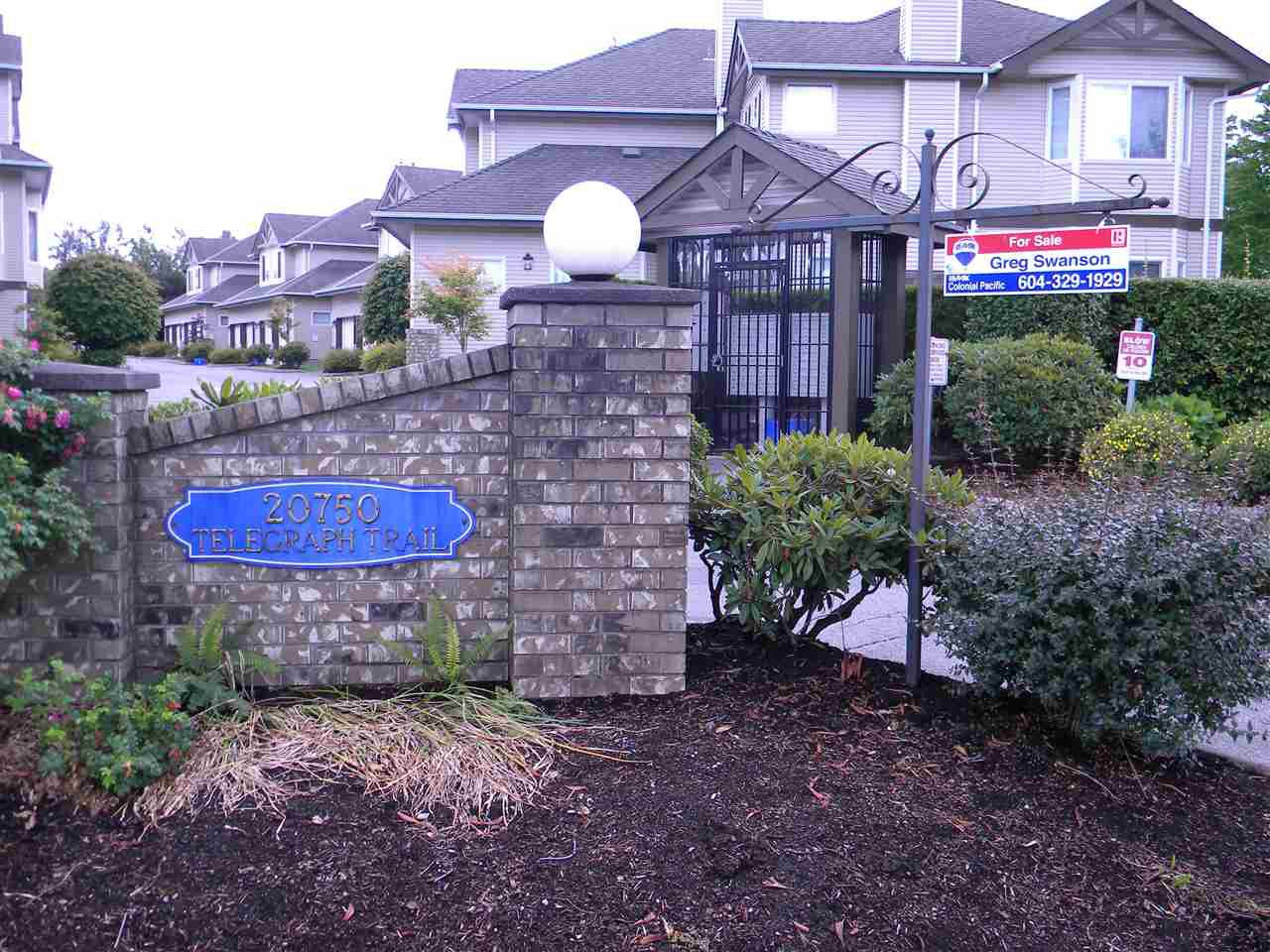 "Main Photo: 6 20750 TELEGRAPH Trail in Langley: Walnut Grove Townhouse for sale in ""Heritage Glen"" : MLS®# R2081059"