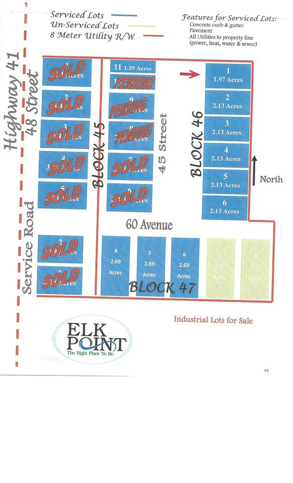 Main Photo: 6205 45 Street: Elk Point Land Commercial for sale : MLS®# E4102438