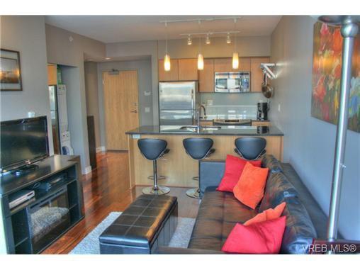 Bright modern living area.