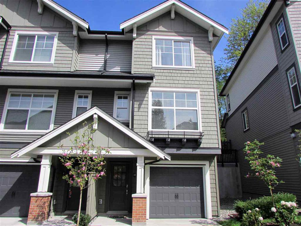 Main Photo: 10 3470 Highland Drive in Coquitlam: Burke Mountain Townhouse for sale : MLS®# R2164105