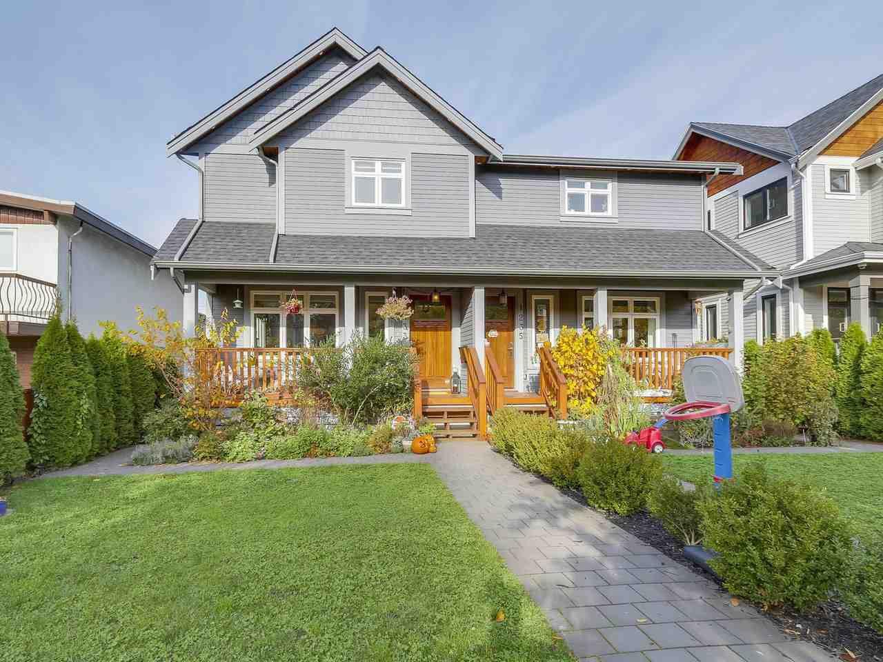"Main Photo: 1233 E 13 Avenue in Vancouver: Mount Pleasant VE House 1/2 Duplex for sale in ""MOUNT PLEASANT"" (Vancouver East)  : MLS®# R2218973"