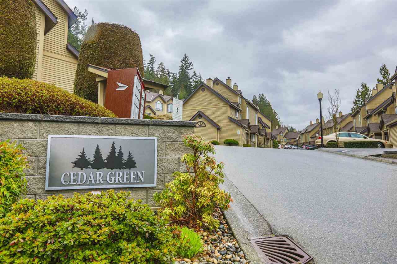 """Main Photo: 23 2736 ATLIN Place in Coquitlam: Coquitlam East Townhouse for sale in """"CEDAR GREEN ESTATES"""" : MLS®# R2226742"""