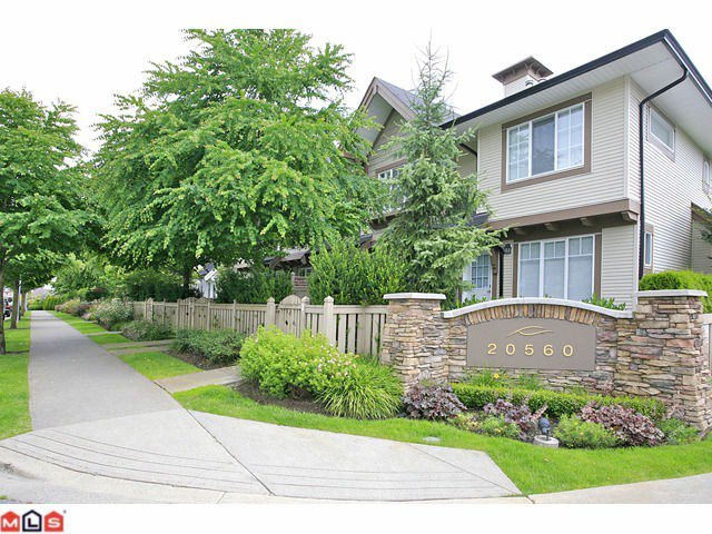"Main Photo: 36 20560 66TH Avenue in Langley: Willoughby Heights Townhouse for sale in ""Amberleigh II"" : MLS®# F1118211"