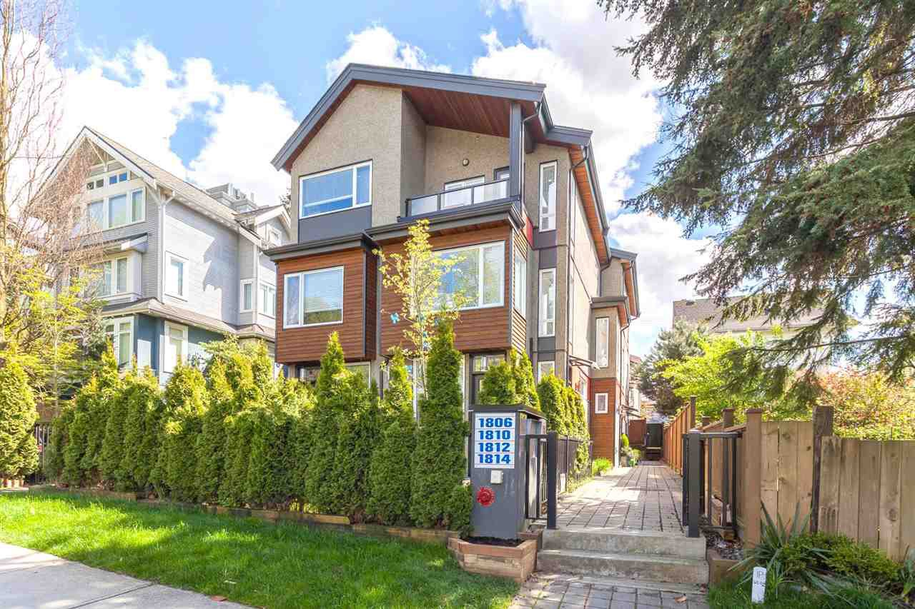 "Main Photo: 1810 E PENDER Street in Vancouver: Hastings Townhouse for sale in ""Azalea Homes"" (Vancouver East)  : MLS®# R2161499"