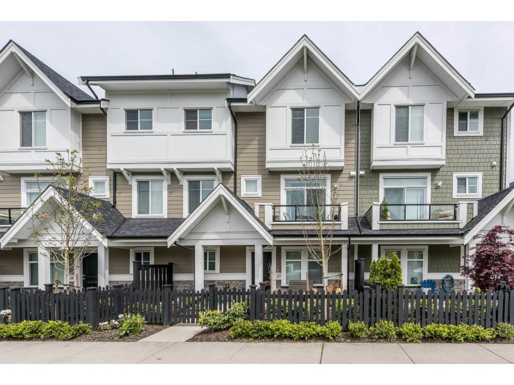 "Main Photo: 29 7374 194A Street in Surrey: Clayton Townhouse for sale in ""Asher"" (Cloverdale)  : MLS®# R2164994"