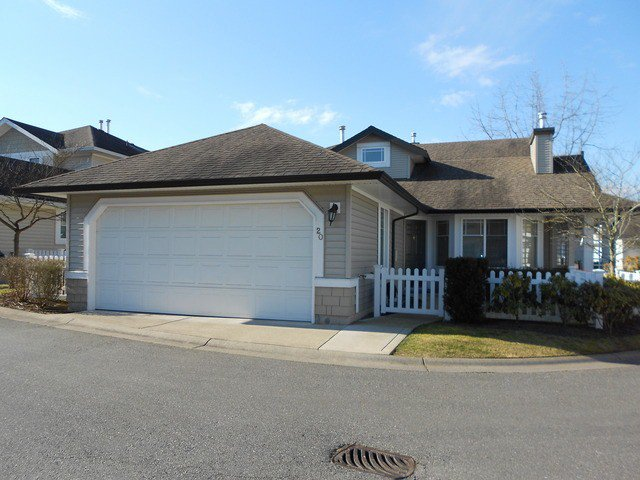"Main Photo: 20 6488 168TH Street in Surrey: Cloverdale BC Townhouse for sale in ""TURNBERRY"" (Cloverdale)  : MLS®# F1403317"