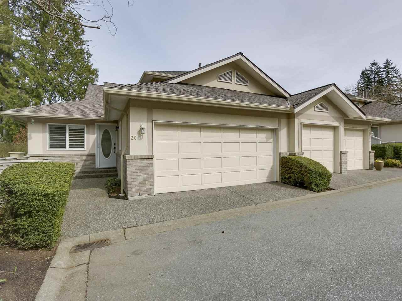 """Main Photo: 20 15099 28 Avenue in Surrey: Elgin Chantrell Townhouse for sale in """"SEMIAHMOO GARDENS"""" (South Surrey White Rock)  : MLS®# R2252729"""