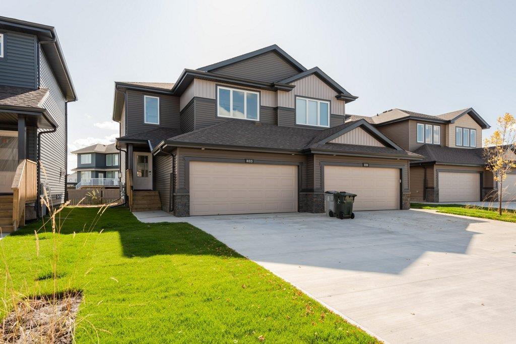 Main Photo: 403 GENESIS Court: Stony Plain House Half Duplex for sale : MLS®# E4136855