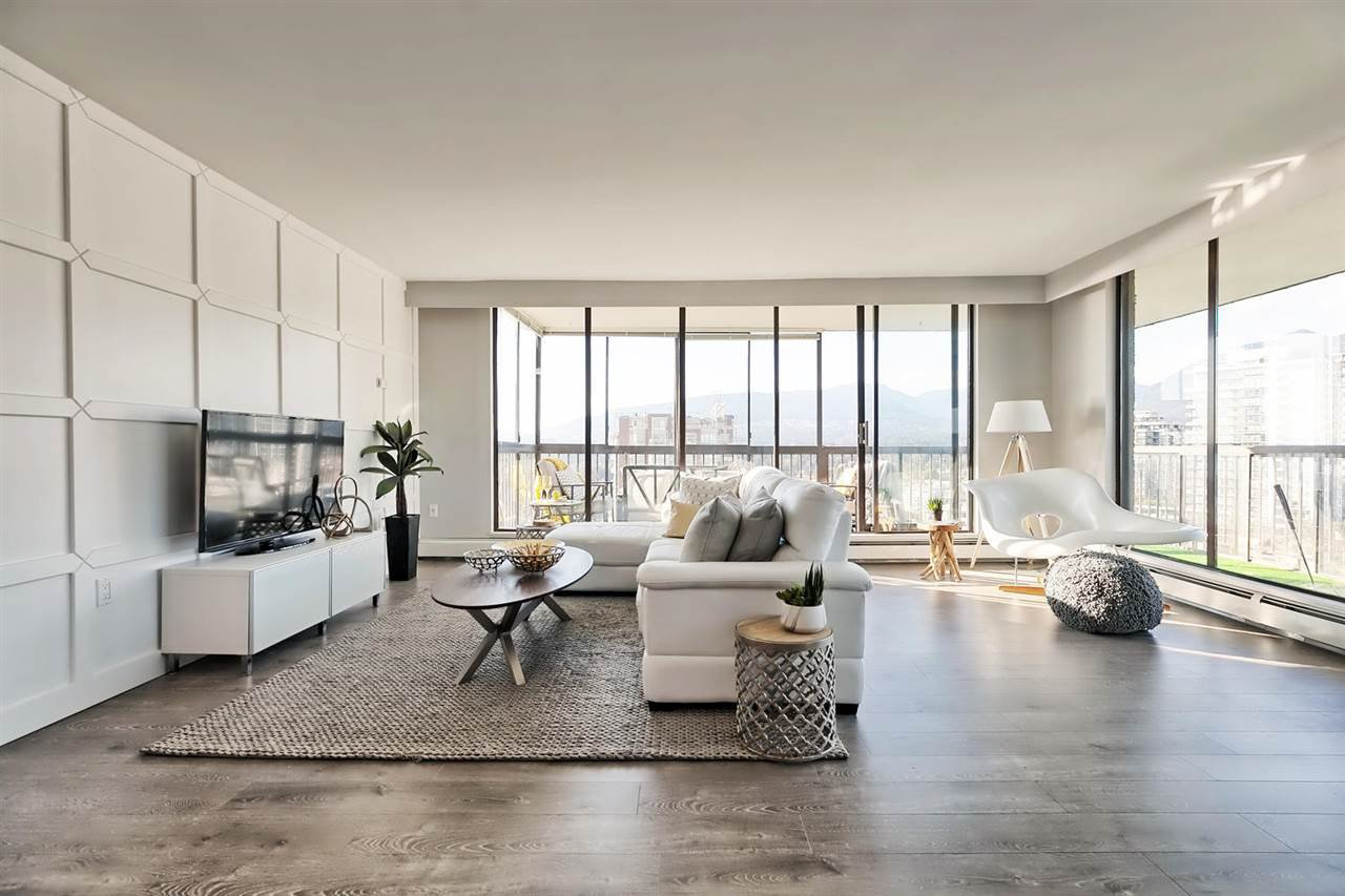 Floor to ceiling windows offer a stunning 180?? views from anywhere in the living room.