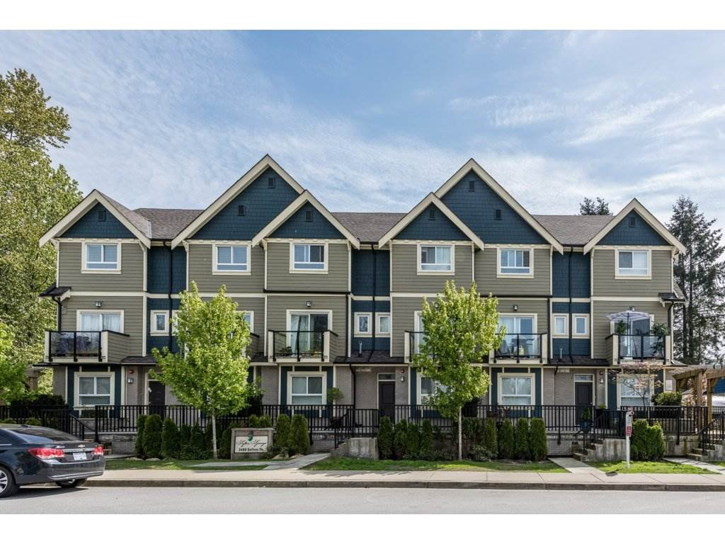 """Main Photo: 208 3488 SEFTON Street in Port Coquitlam: Glenwood PQ Townhouse for sale in """"SEFTON SPRINGS"""" : MLS®# R2165688"""