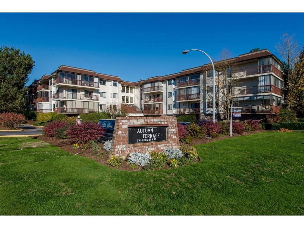 "Main Photo: 216 2414 CHURCH Street in Abbotsford: Abbotsford West Condo for sale in ""Autumn Terrace"" : MLS®# R2217880"