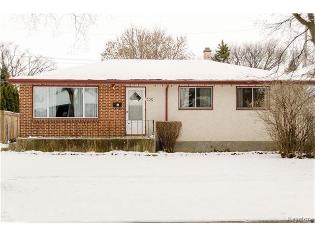 Main Photo: 530 Rosseau Avenue West in Winnipeg: West Transcona Residential for sale (3L)  : MLS®# 1630343