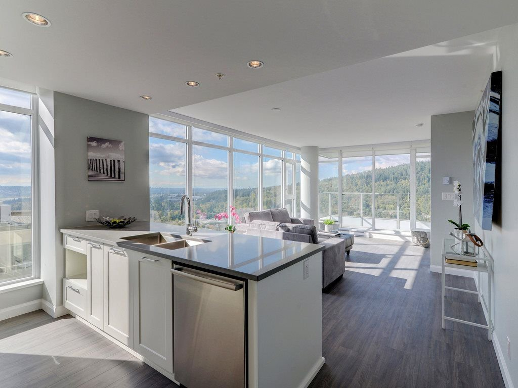 """Main Photo: 2202 520 COMO LAKE Avenue in Coquitlam: Coquitlam West Condo for sale in """"THE CROWN"""" : MLS®# R2215084"""