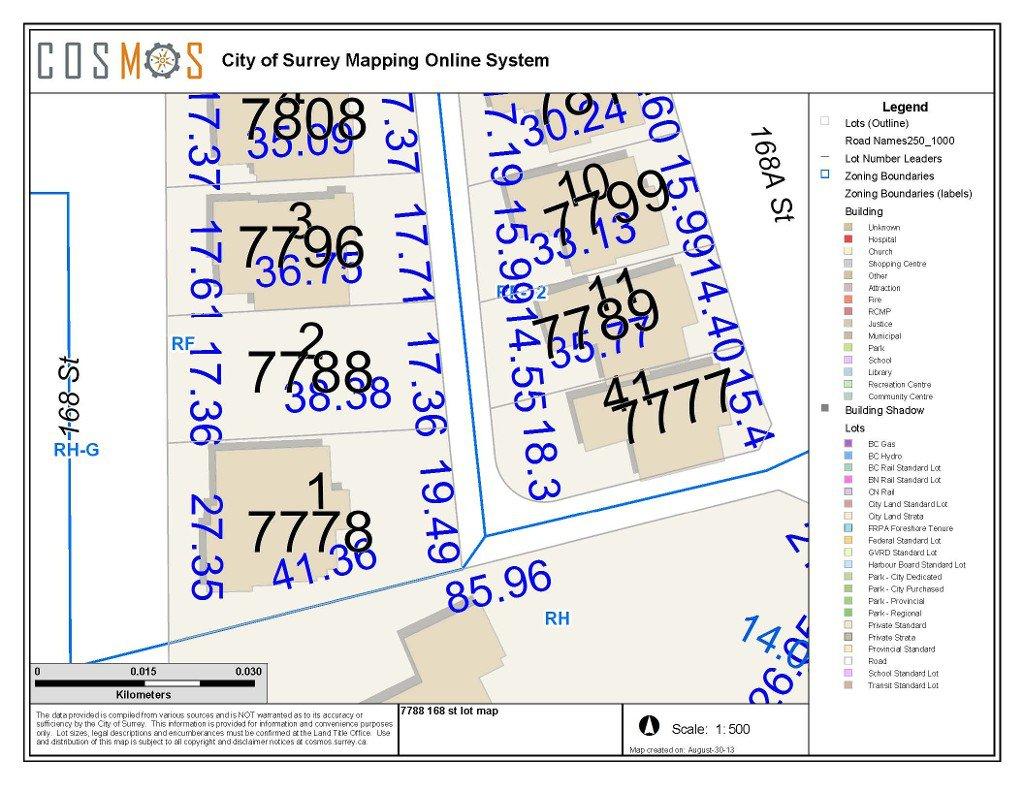 Main Photo: 7788 168 Street in Surrey: Fleetwood Tynehead Land for sale