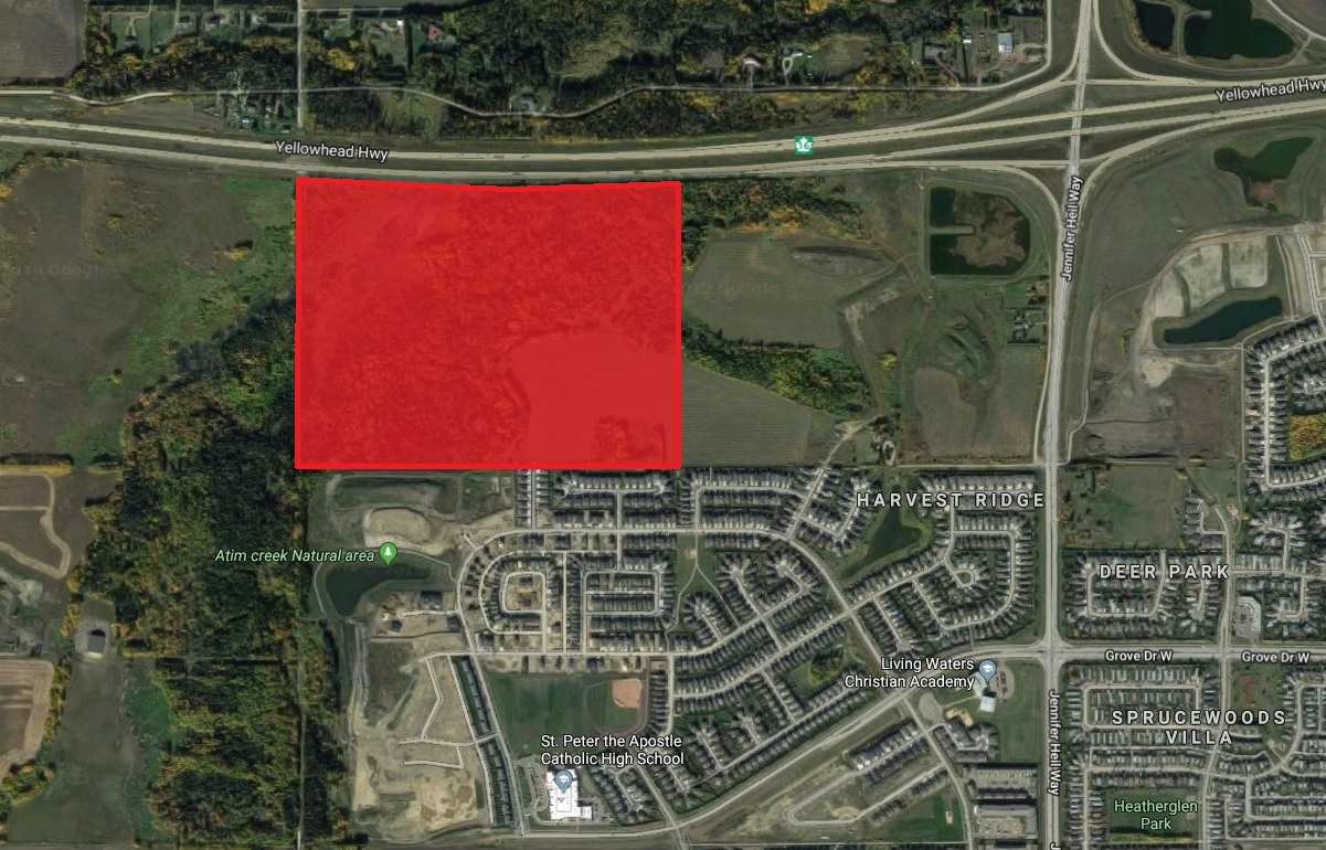 Main Photo: HWY 16 Halladay Boulevard: Spruce Grove Land Commercial for sale : MLS®# E4145160